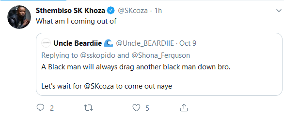 Screenshot 2019 10 10 Sthembiso SK Khoza SKcoza Twitter - Lol! SK Khoza Gives A Classic Response To Speculations That He Is Next To Expose The Fergusons