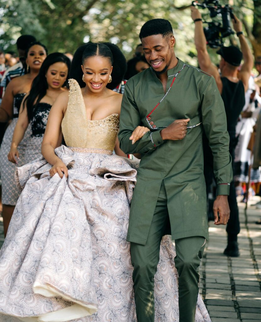Dineo dress 1 830x1024 - Top 5 SA Celebs Most Beautiful Traditional Weddings of 2019
