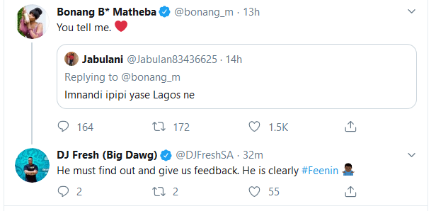 Screenshot 2020 01 10 Home Twitter - Ouch! Bonang and DJ Fresh Send a Troll To The Cleaners With Spicy Clap Backs